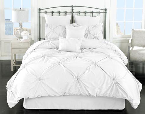 Lanre White 8 Pc Queen Comforter Set