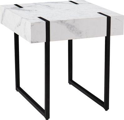 Laramice White End Table