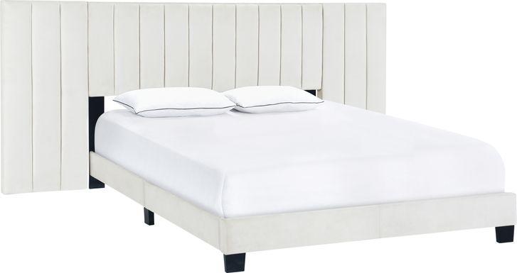 Larkhaven White King Bed