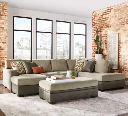 Larna Park Taupe 2 Pc Sectional