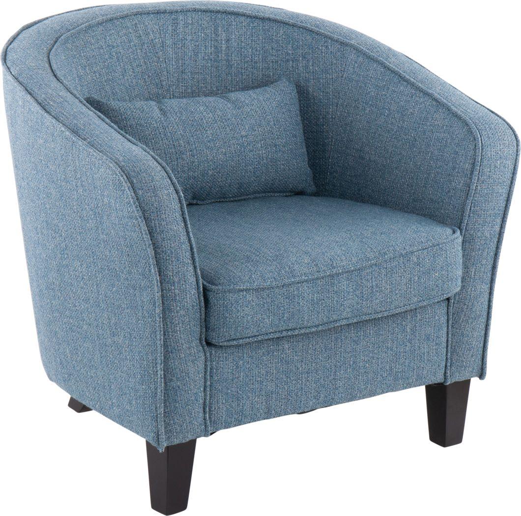 Larrabee Blue Accent Chair