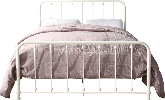 Lasula White Full Post Bed