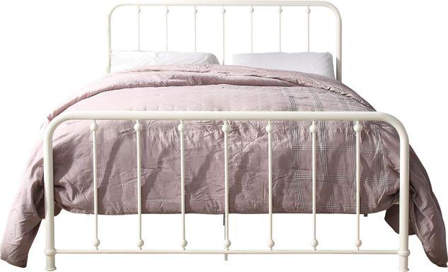 Lasula White Full Post Bed