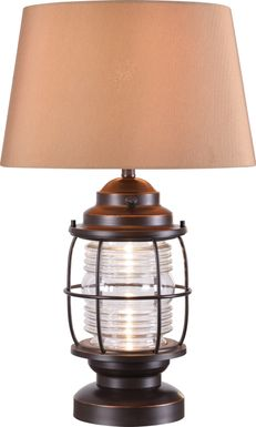 Latika Brown Outdoor Table Lamp