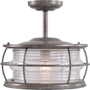 Latika Gray Outdoor Chandelier