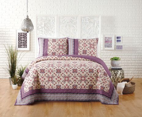 Latoria Purple Full/Queen Quilt