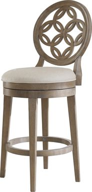 Lattimo Gray Swivel Barstool