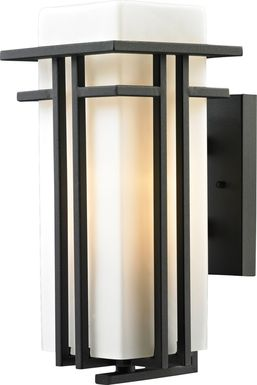 Lauradell Black Outdoor Wall Sconce