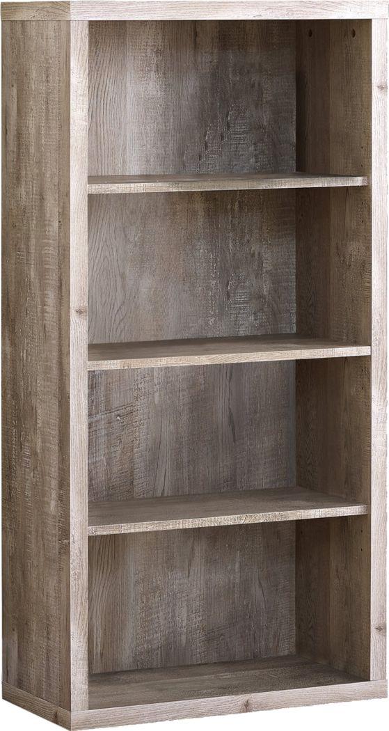 Laureston Taupe Bookcase