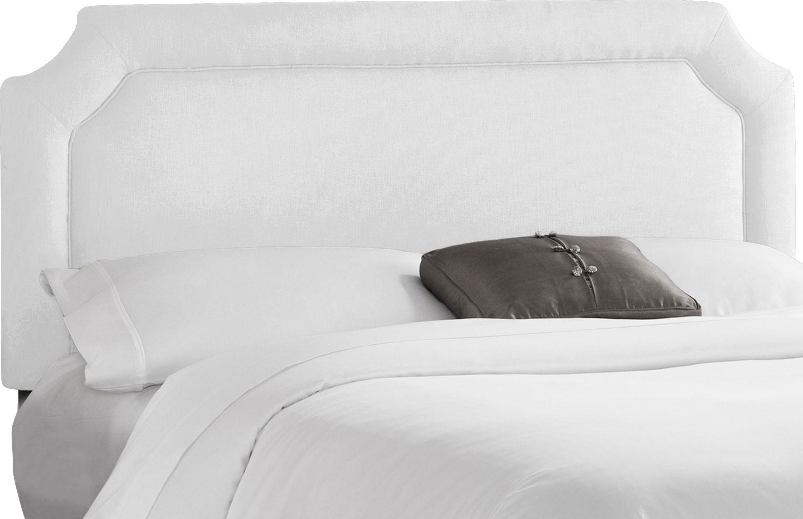 Lavan White Queen Upholstered Headboard