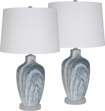Lavonne Spring Blue Lamp, Set of 2