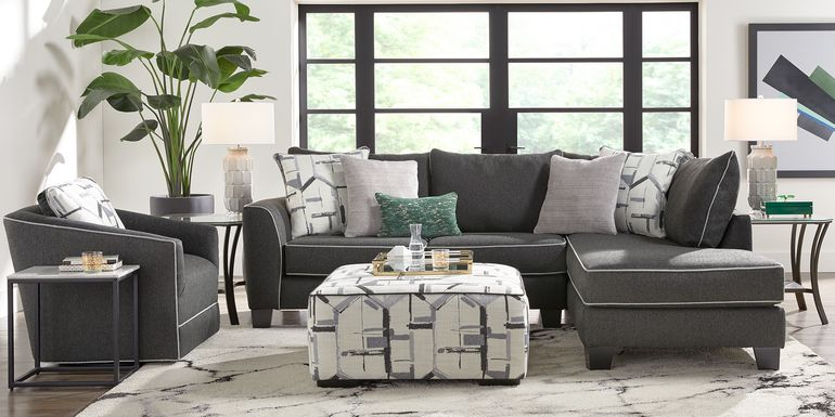Lawson Landing Black 2 Pc Sectional