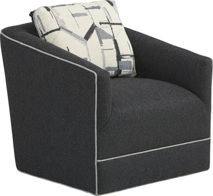 Lawson Landing Black Swivel Chair
