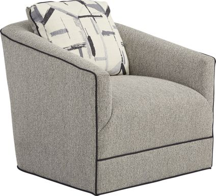 Lawson Landing Gray Swivel Chair