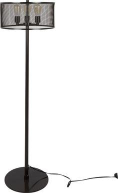 Laycaster Black Floor Lamp