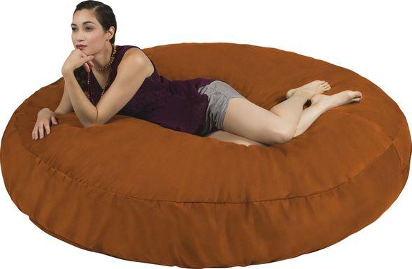 Lazy Dayz Orange Bean Bag Chair
