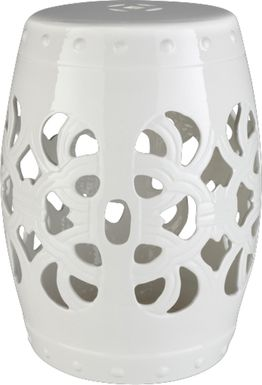 Lebone Ivory Outdoor Stool