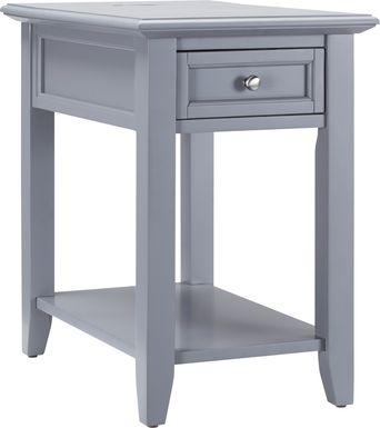 Leda Gray Accent Table
