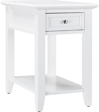 Leda White Accent Table