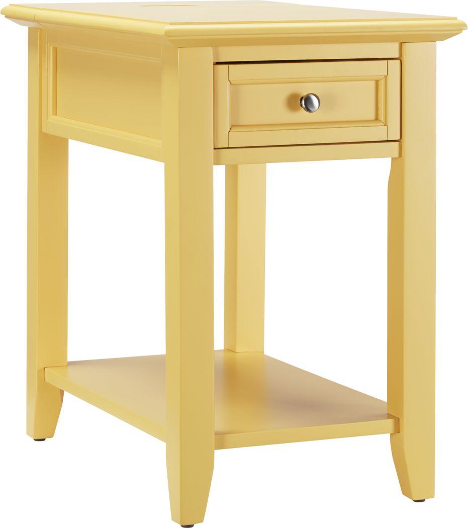 Leda Yellow Accent Table