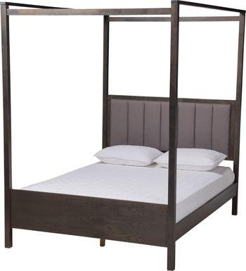 Lelane Gray King Canopy Bed