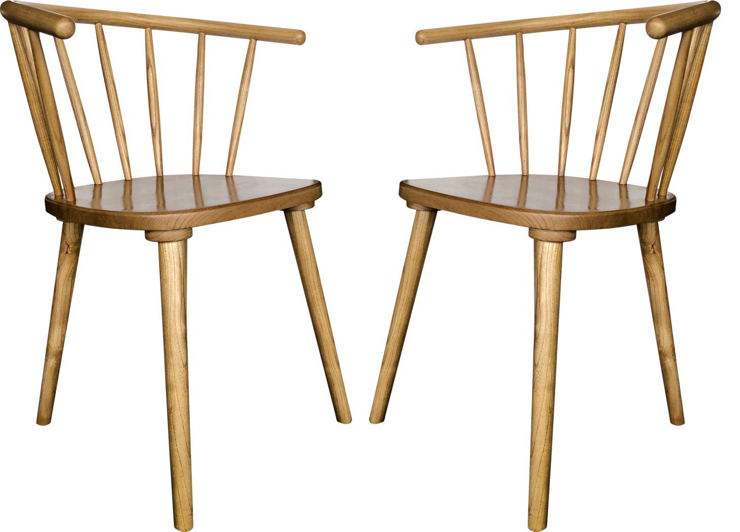 Lemonwood Natural Dining Chair, Set of 2