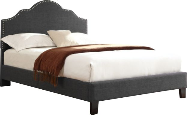 Lenosa Charcoal Gray Queen Upholstered Bed