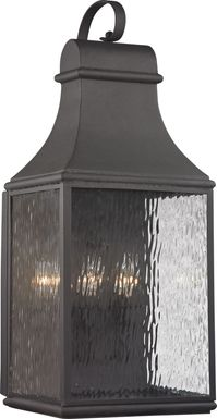 Lepley Gray Large Outdoor Wall Sconce