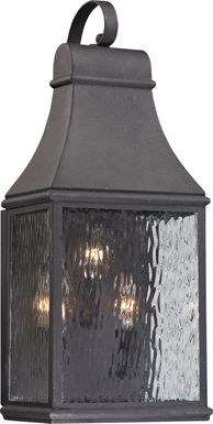 Lepley Gray Medium Outdoor Wall Sconce