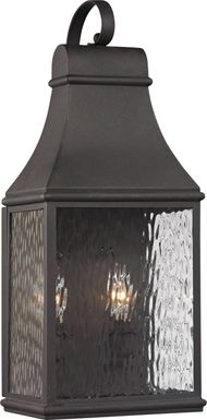 Lepley Gray Small Outdoor Wall Sconce