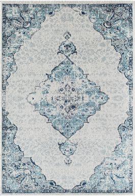 Lestine 8' x 10' Blue Rug