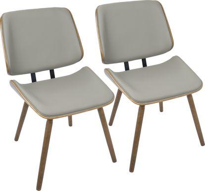 Leverett Gray Dining Chair (Set of 2)