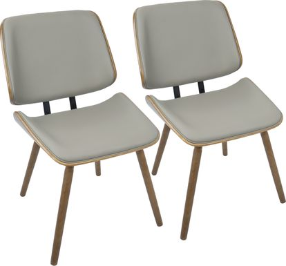 Leverett Gray Dining Chair (Set of 2)