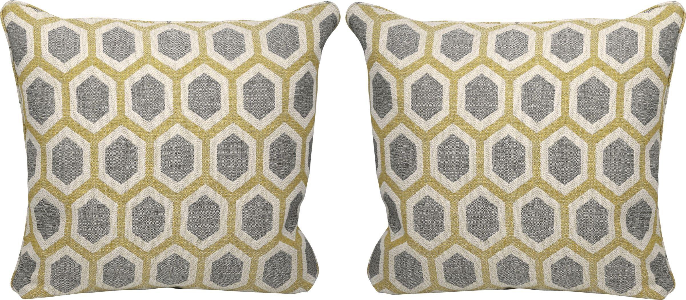 Lexie Maize Accent Pillows (Set of 2)