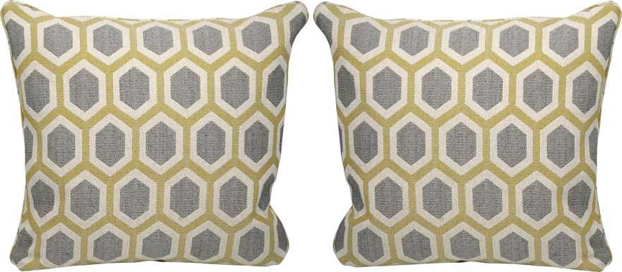 Lexie Maize Accent Pillows (Set of 2)