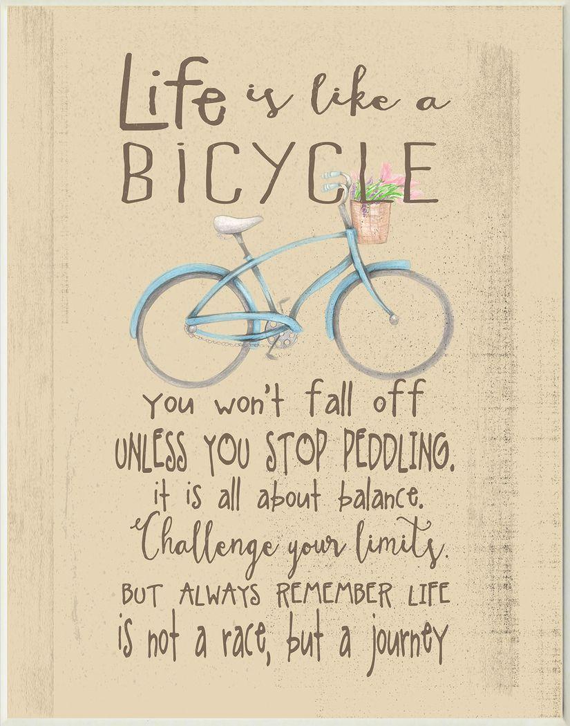 Kids Life is Like a Bicycle Artwork