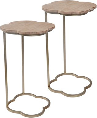 Lille Huy Beige Set of 2 Accent Tables