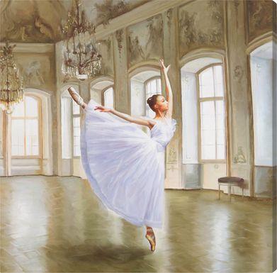 Lily's Dance White Artwork