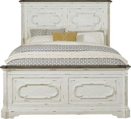 Lindenwood White 3 Pc King Panel Bed
