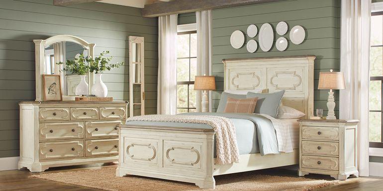 Lindenwood White 7 Pc King Panel Bedroom