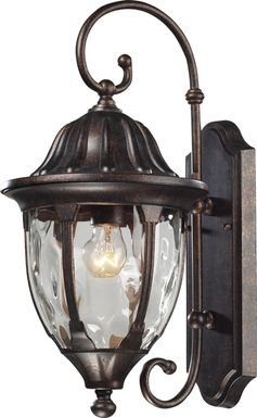 Linendale Brown Outdoor Wall Sconce