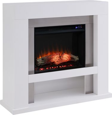 Linkmeadow IV White 44 in. Console With Electric Fireplace