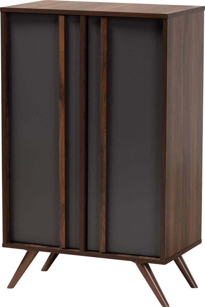 Linnis Mill Walnut Accent Cabinet
