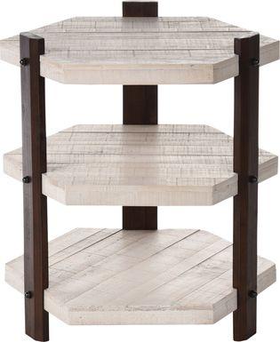Lissner White End Table
