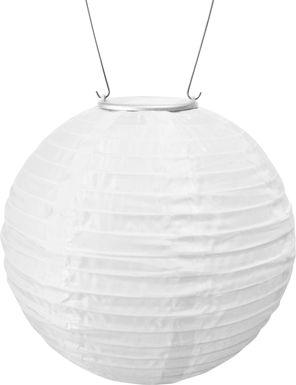 Lita White Outdoor Solar Lantern with Amber LED