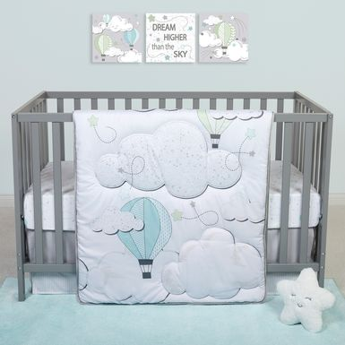 Little Drifter White 4 Pc Baby Bedding Set