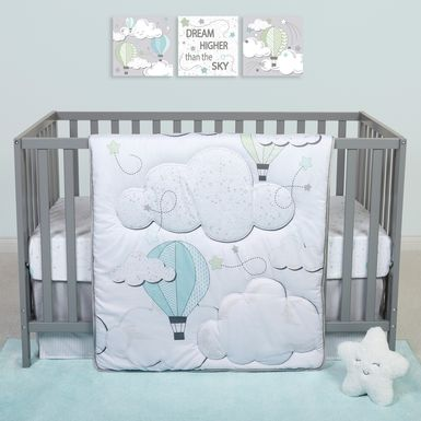 Little Drifter White 4 Pc Baby Bedding Set