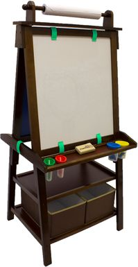 Little Partners Espresso Deluxe Learn and Play Art Center Easel