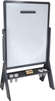 Little Partners Gray Contempo Two-Sided Art Easel