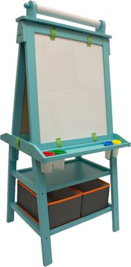 Little Partners Turquoise Deluxe Learn and Play Art Center Easel